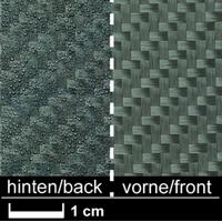 Углеткань (карбон) 245 г/м², с термопластичным напылением, твилл / Carbon fabric 245 g/m², non-shift finish, twill