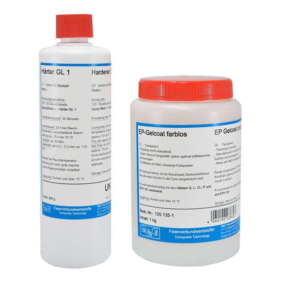 Эпоксидный бесцветный гелькоут EP + отвердитель L /80°С/ (40 мин)