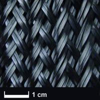 Карбоновый оплеточный рукав Ø 165 мм, 640 г/м² / Carbon fibre sleeve Ø 165 mm, 640 g/m²
