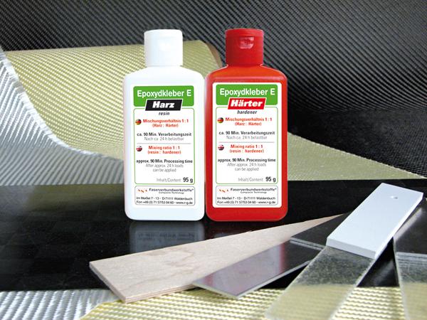 Клей эпоксидный Е для алюминия, двухкомпонентный, 190 гр / Epoxy adhesive E