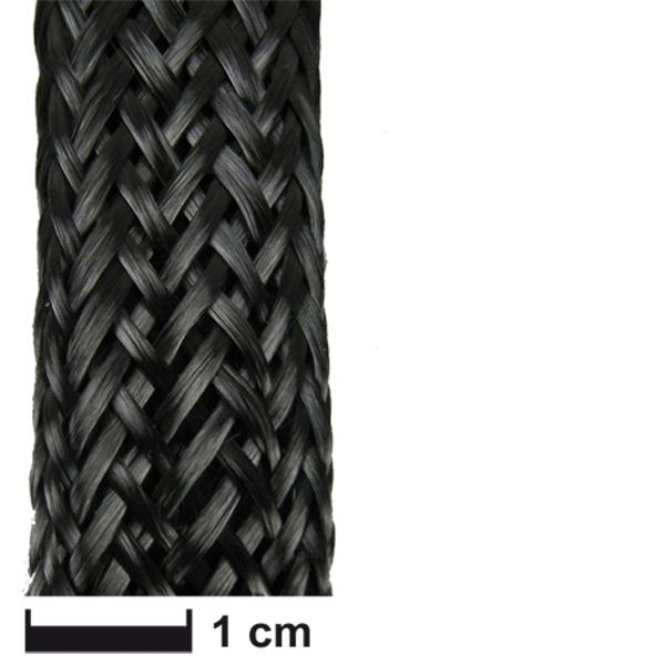 Карбоновый оплеточный рукав Ø 18 мм. / Carbon fibre braided sleeve Ø 18 mm