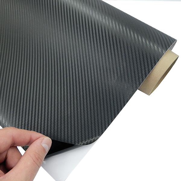 Виниловая пленка 3D карбон (черная) 127 cm