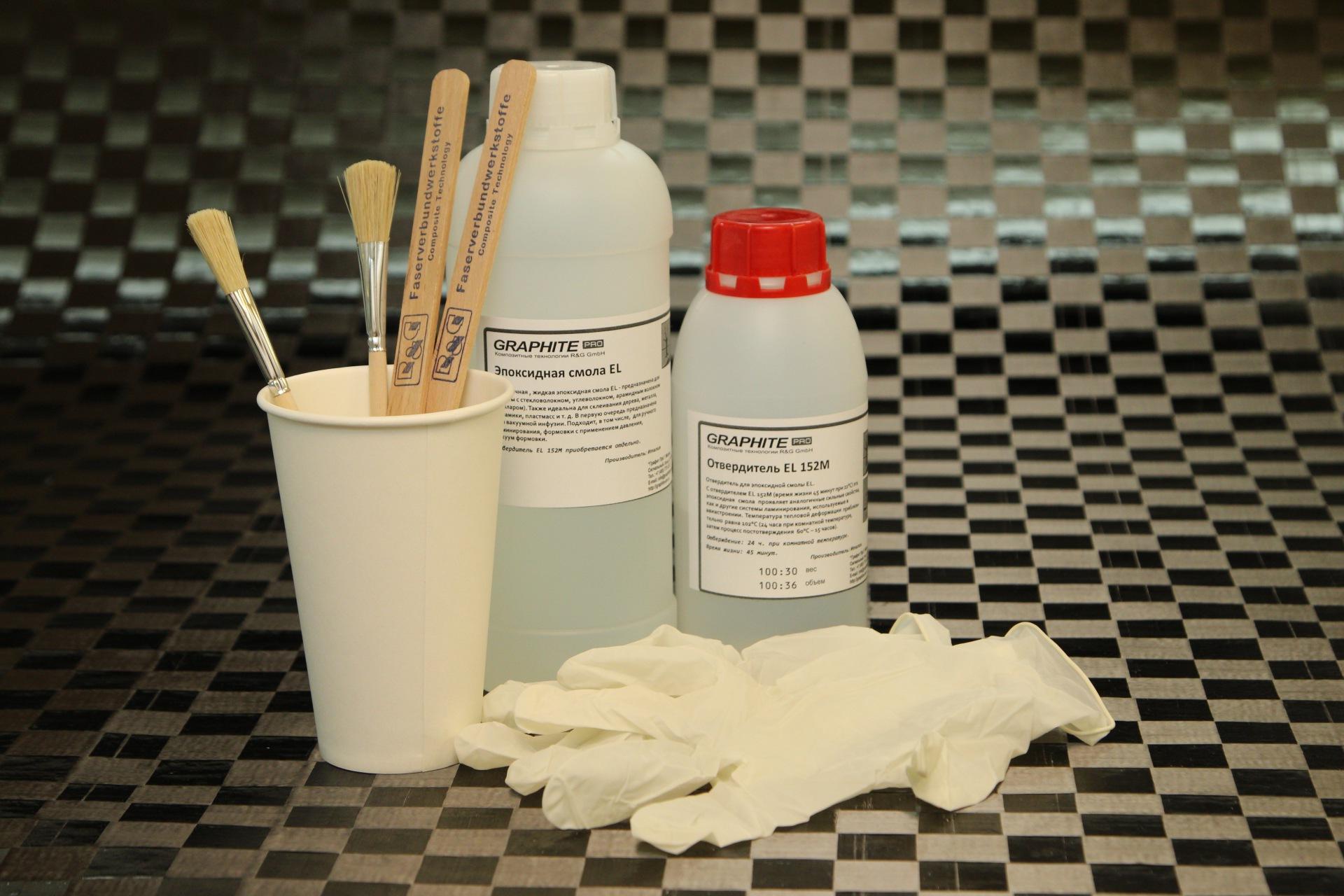Эпоксидная смола EL + отвердитель EL 152 L (120 мин), набор из двух компонентов. / Epoxy resin EL + Hardener EL 152 L