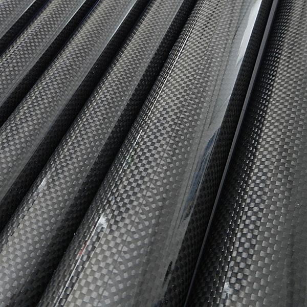 Карбоновые трубки, намотка, полотняное плетение (3k)