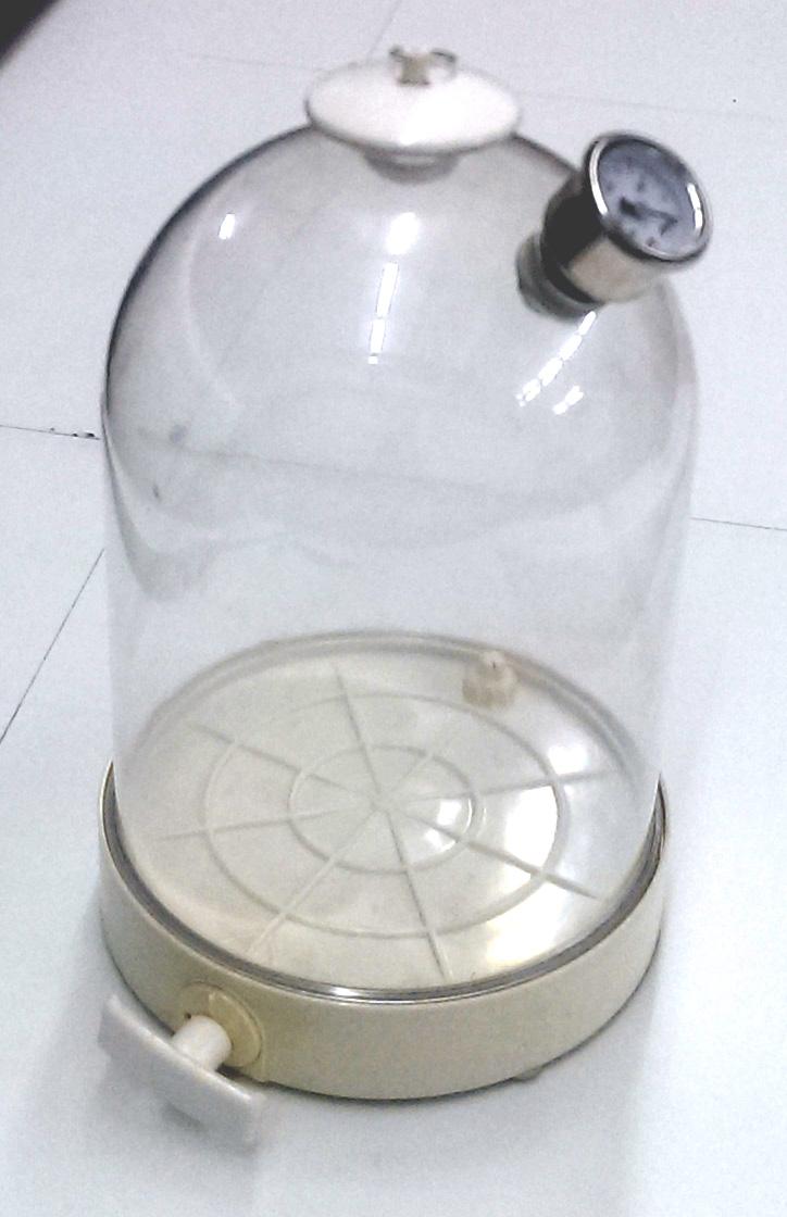 Дегазатор 10 л, вакуумный колпак из поликарбоната