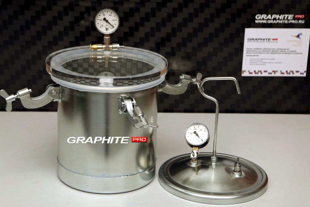 Дегазатор для смол + вакуумная ловушка