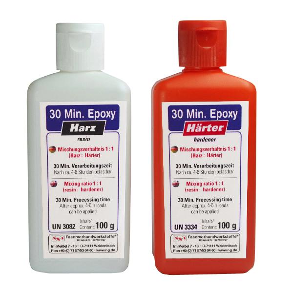 Клей эпоксидный 30-минутный, набор из двух компонентов, 200 гр./ 30 Minute Epoxy, kits (MR 1:1)