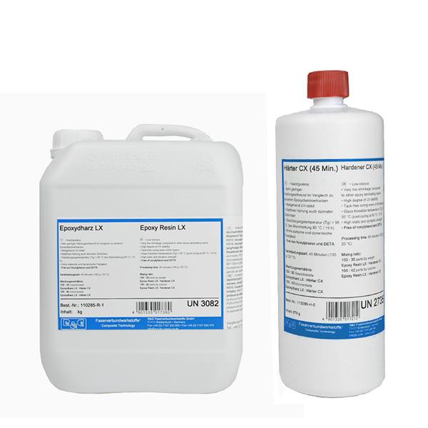 Эпоксидная смола LX + отвердитель CX (45 мин)