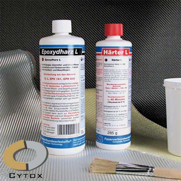 Эпоксидная смола L + отвердитель L (40 мин), набор из двух компонентов.