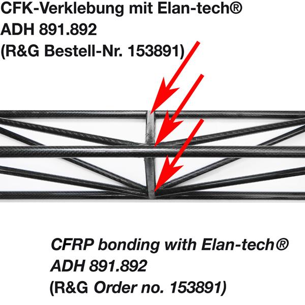 Клей Elan-tech® ADH 891.892 Эпоксидный адгезив (черный), 400 ml