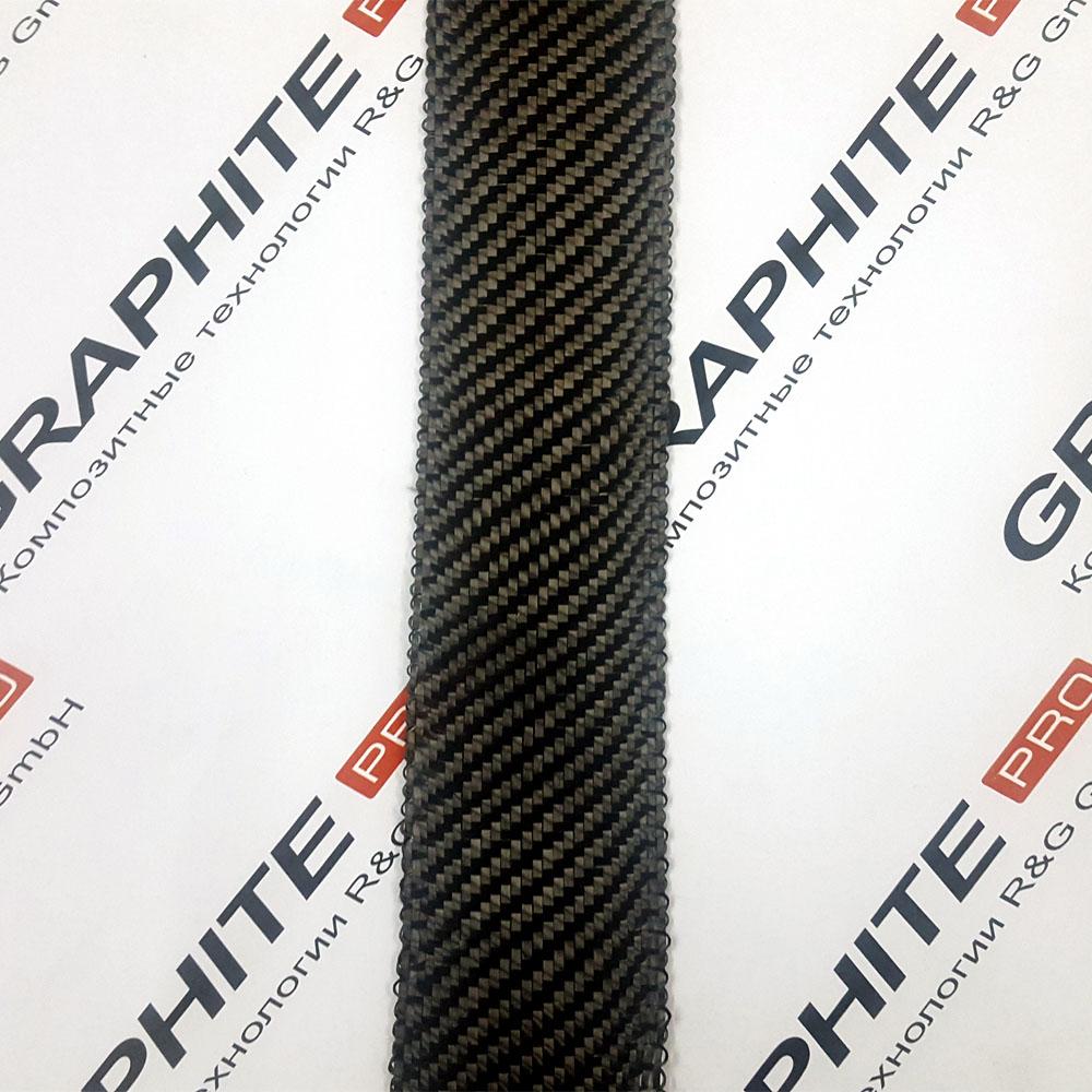 Карбоновая (углеродная) лента, ширина 50 мм.
