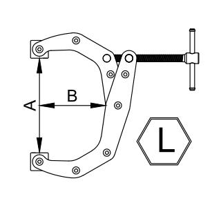 Струбцины рычажно-винтовые L-типа