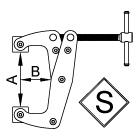 Струбцины рычажно-винтовые S-типа