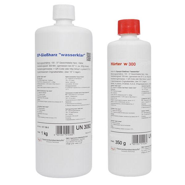 Литьевая супер жидкая эпоксидная смола для столешниц с W300 40мм (300 мин)