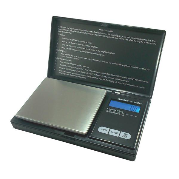 Электронные карманные весы от 0,1 г до  600 г