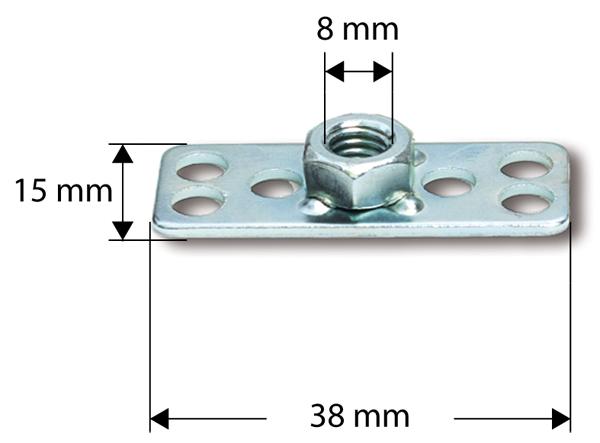 Крепеж для композитов(гайки), S 38 x 15 мм/ М8