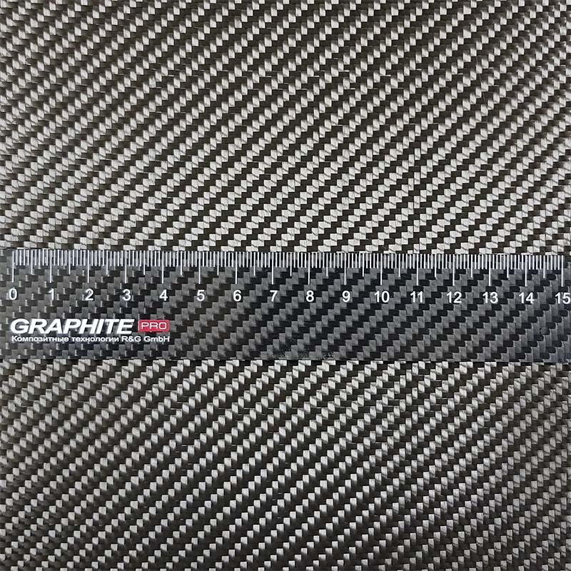 Углеткань Panda (карбон) 240 г/м², твилл, ширина 120 см.