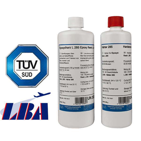 Эпоксидная смола L 285 + отвердитель 285, два компонента, Aero (50 мин)