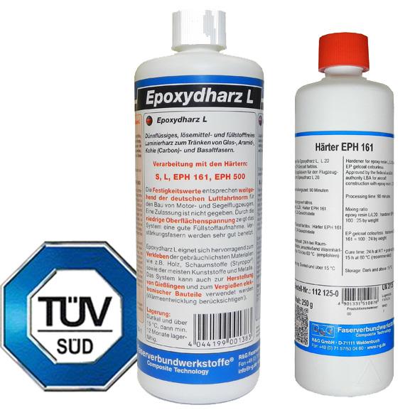 Эпоксидная смола L + отвердитель EPH 161 (90 мин), набор из двух компонентов. / Epoxy resin L + Hardener EPH 161