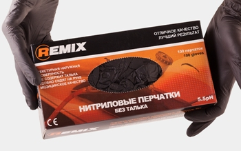 Перчатки нитриловые L REMIX