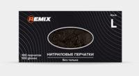 Перчатки нитриловые REMIX GENERAL , размер M (черные)
